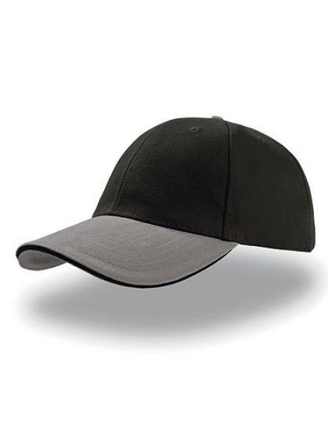 Liberty Sandwich Cap - Caps - 6-Panel-Caps - Atlantis Black - Grey - Black