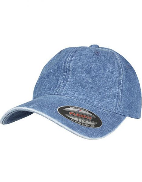 Low Profile Denim Cap - Caps - 6-Panel-Caps - FLEXFIT Blue