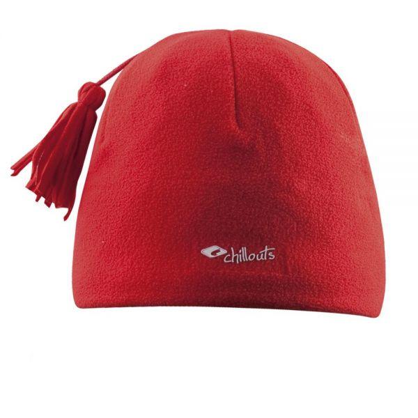 CHILLOUTS Freeze Fleece Pom Hat Wintermütze in Rot | Bommel Mütze