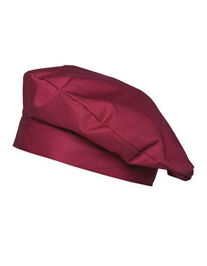 Barettmütze Luka - Gastro & Beauty - Kleidung Service - Karlowsky Bordeaux (ca. Pantone 209C)