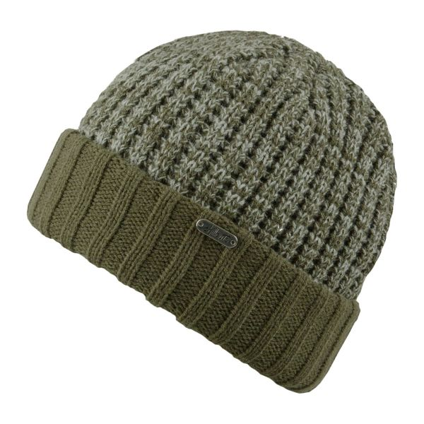 CHILLOUTS Jimmy Hat Herren Wintermütze in Olive Hellgrau | Strickmütze