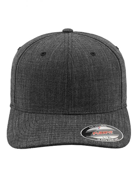 Fine Melange Flexfit - Caps - 6-Panel-Caps - FLEXFIT Black