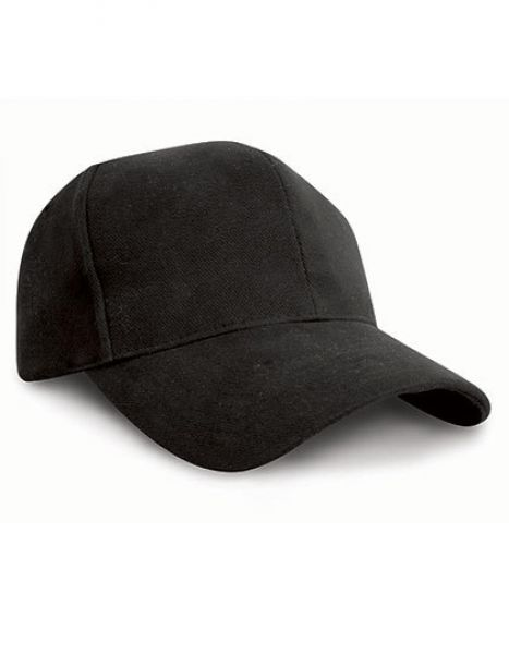 Pro-Style Heavy Cotton Cap - Caps - 6-Panel-Caps - Result Headwear Black