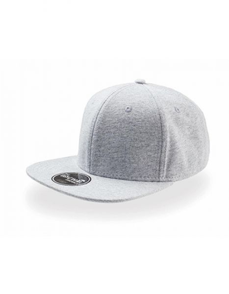 Snap Jersey Cap - Caps - 6-Panel-Caps - Atlantis Grey Melange