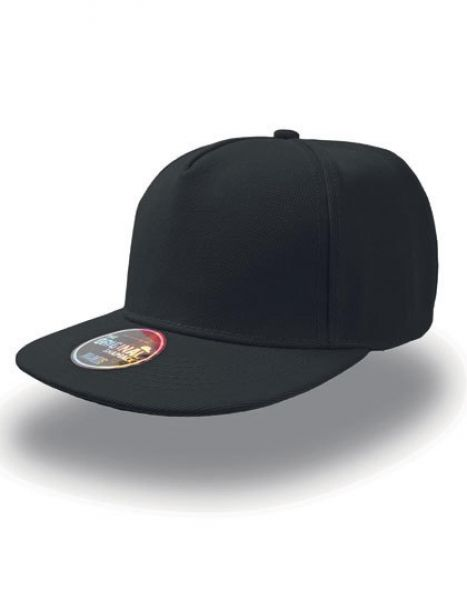 Snap Five Cap - Caps - 5-Panel-Caps - Atlantis Black