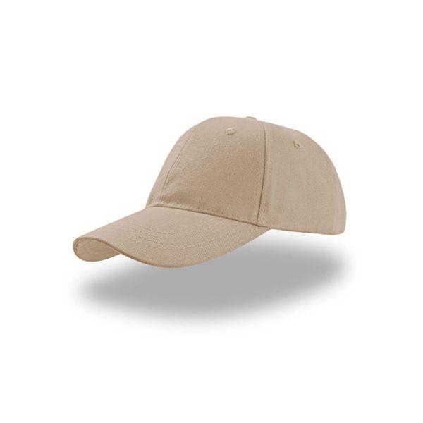 Unisex 6-Panel Cap Beige Baseball Cap Mütze