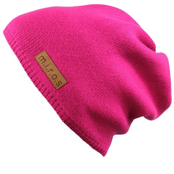 Long Beanie Mütze Mika in Pink / handgemachte Wintermütze