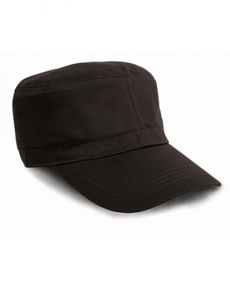 Urban Trooper Fully Lined Cap - Caps - 3-Panel-Caps - Result Headwear Black