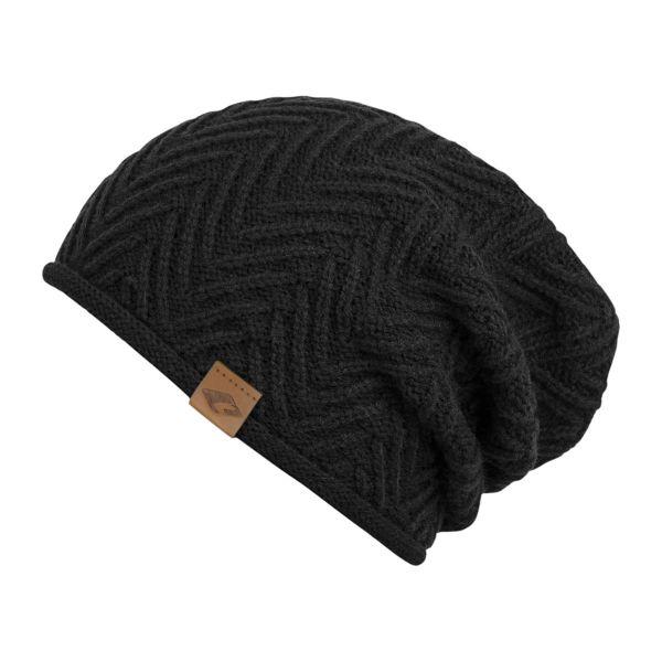 CHILLOUTS Cody Hat Herren Beanie Mütze in schwarz Wintermütze