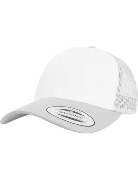 Retro Trucker Colored Front - Caps - Netz- & Sport-Caps - FLEXFIT Silver - White - Silver