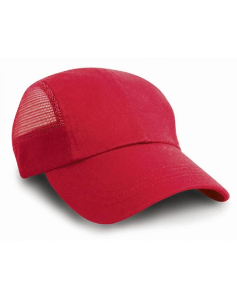 Sport Cap with Side Mesh - Caps - 3-Panel-Caps - Result Headwear Red