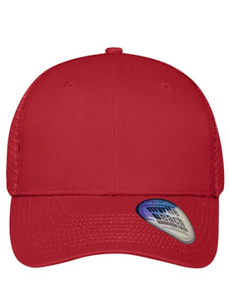 6 Panel Mesh Cap - Myrtle beach Red - Red