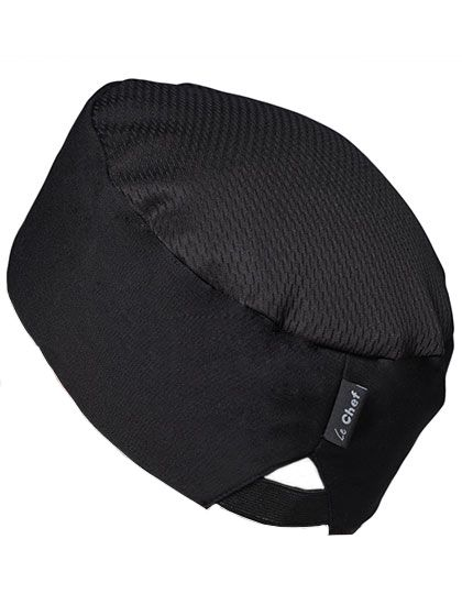 Le Chef Skull Cap Staycool - Le Chef Black