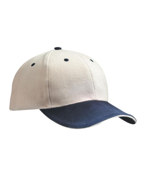 6-Panel Sandwich Cap - Caps - 6-Panel-Caps - Myrtle beach Beige - Navy - Beige