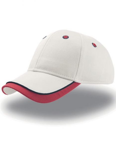Kid Star Cap - Caps - Kinder-Caps - Atlantis Ecru - Red