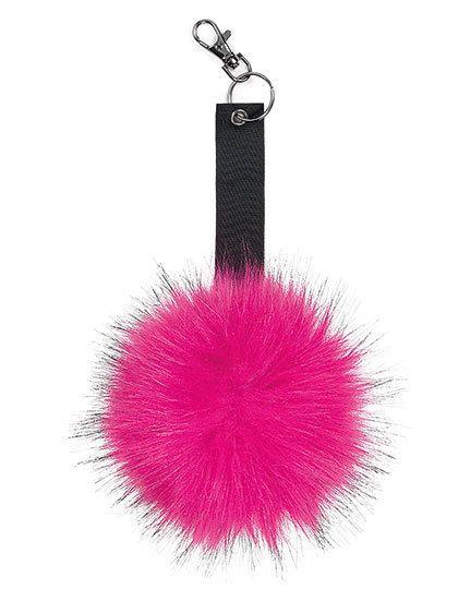 Faux Fur Pop Pom Key Ring - Beechfield Bella