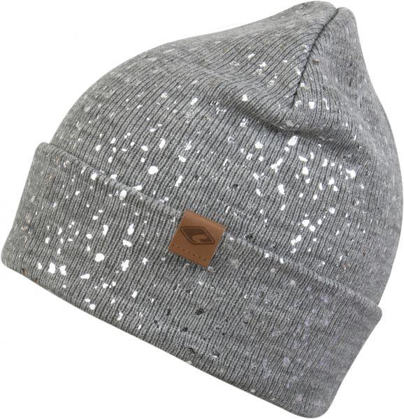 CHILLOUTS Mabel Hat Damen Beanie Mütze in Grau/Silber Wintermütze