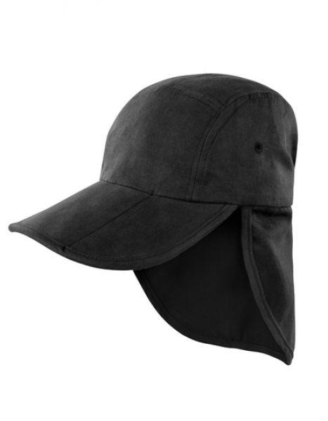 Fold Up Legionnaires Cap - Caps - Sonnenblenden & Schildmützen - Result Headwear Black