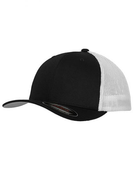 Flexfit Mesh Trucker 2-Tone Cap - Caps - 6-Panel-Caps - FLEXFIT Black - White