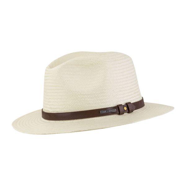 CHILLOUTS Padua Hat in Natur | Herren Hut | Panama Strohhut|  verstellbar S/M