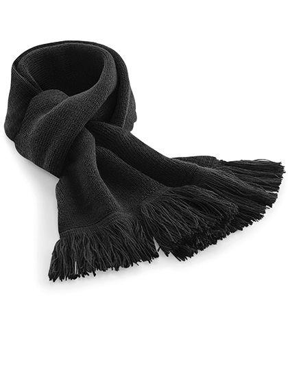 Classic Knitted Scarf - Winteraccessoires & Mützen - Schals - Beechfield Black