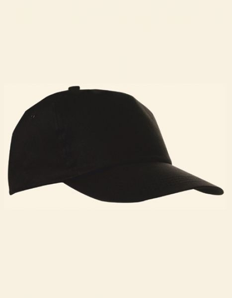 Baumwollcap - Caps - 5-Panel-Caps - Printwear Black
