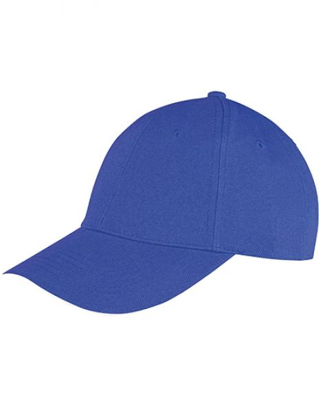 Memphis Brushed Cotton Low Profile Sandwich Peak Cap - Caps - 6-Panel-Caps - Result Headwear Royal - White