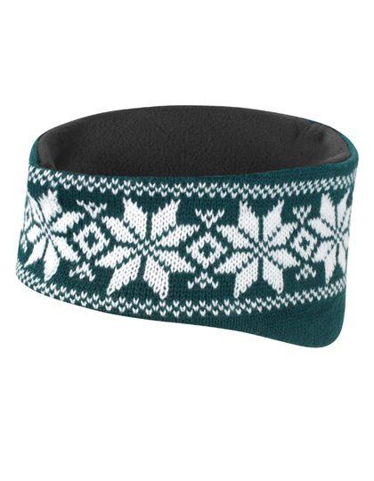 Fair Isle Head Warmer - Winteraccessoires & Mützen - Mützen - Result Winter Essentials Arctic Green - White