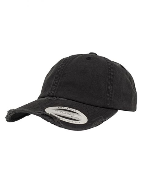 Low Profile Destroyed Cap - Caps - 6-Panel-Caps - FLEXFIT Black