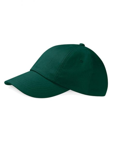 Low Profile Heavy Cotton Drill Cap - Caps - 6-Panel-Caps - Beechfield Bottle Green