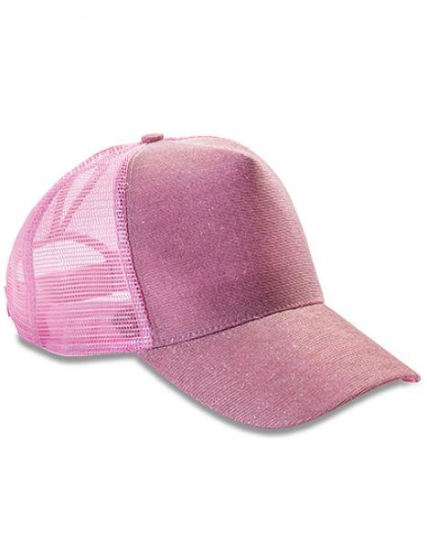 New York Sparkle Cap - Result Headwear Baby Pink