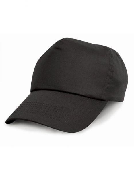 Junior Cotton Cap - Kinderbekleidung - Kinder Caps & Mützen - Result Headwear Black