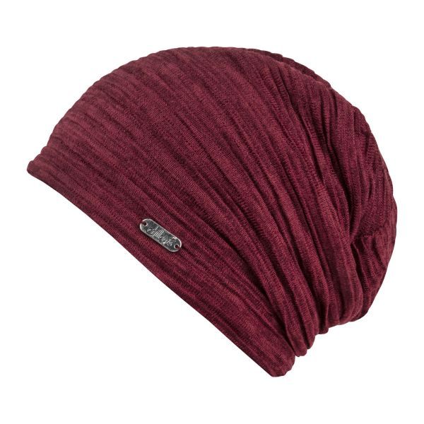CHILLOUTS Madrid Hat Herren Beanie Mütze in Bordeaux Sommermütze
