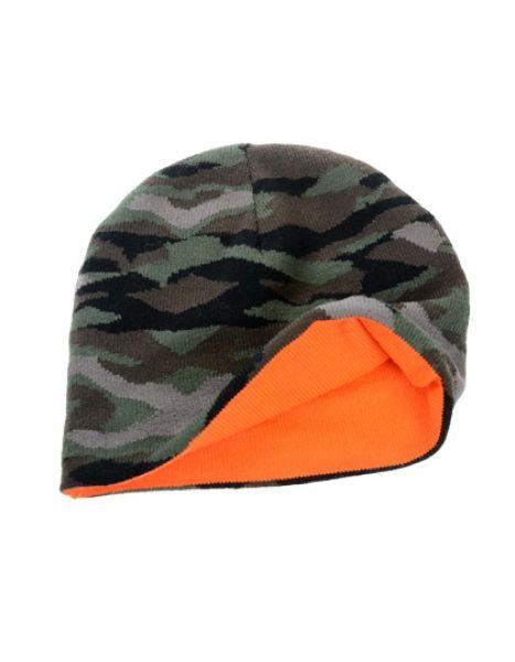 Wild Beanie - Winteraccessoires & Mützen - Mützen - Atlantis Camouflage - Orange
