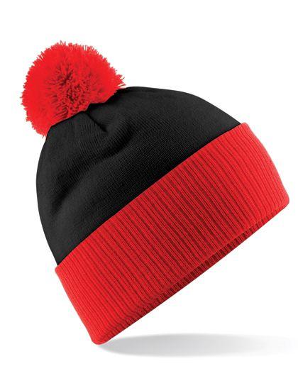 Snowstar® Two-Tone Beanie - Winteraccessoires & Mützen - Mützen - Beechfield Black - Bright Red