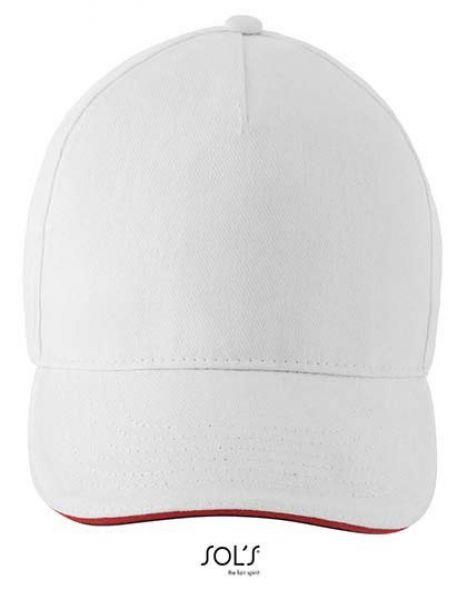 Unisex Contrast Three-Colour Cap Longchamp - Caps - 6-Panel-Caps - SOL´S White