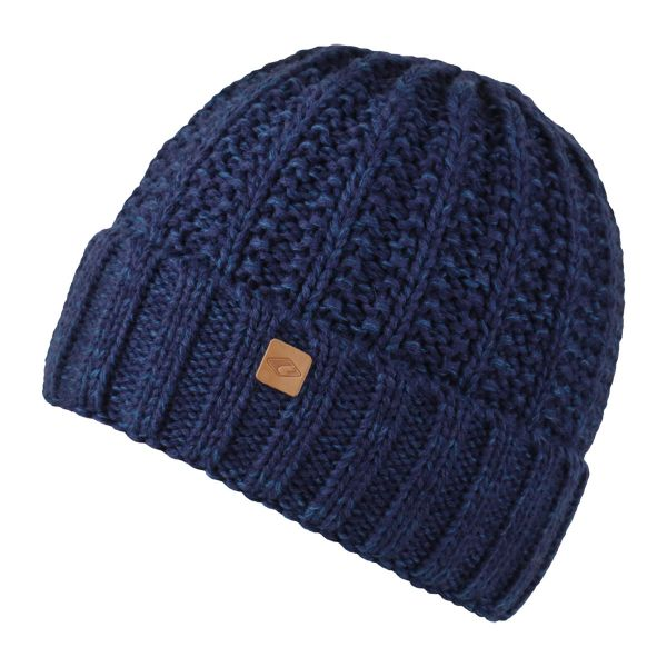 CHILLOUTS Joel Hat Wintermütze in Navy Melange | Strickmütze