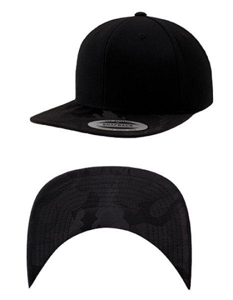 Camo Visor Snapback - Caps - 6-Panel-Caps - FLEXFIT Black - Black Camo