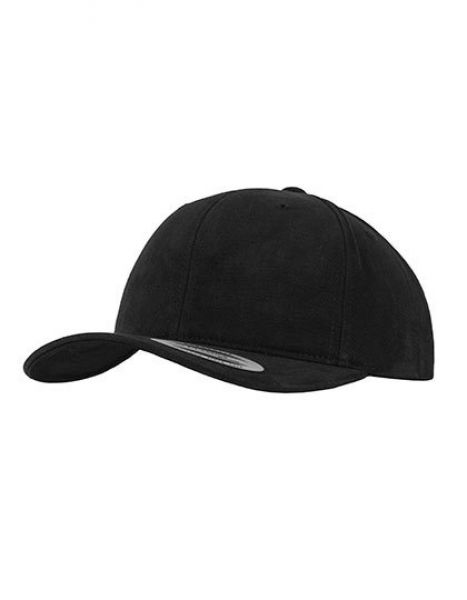Brushed Cotton Twill Mid-Profile - Caps - 6-Panel-Caps - FLEXFIT Black
