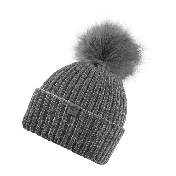 CHILLOUTS Lucy Hat Damen Bommelmütze in grau Wintermütze