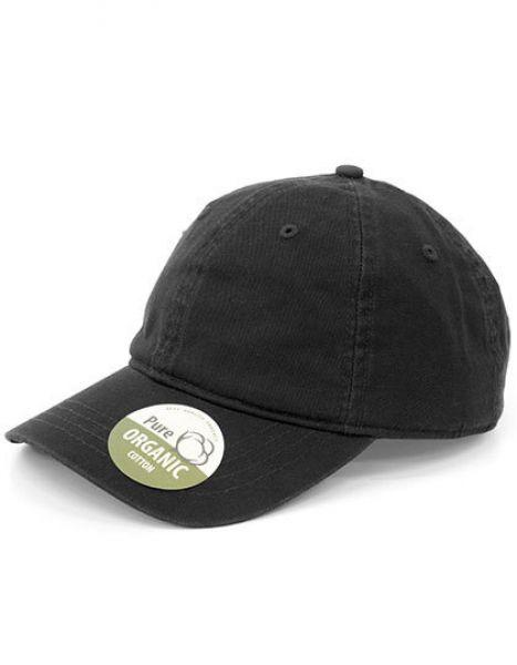 Organic Cotton Cap Unstructured - Brain Waves Black