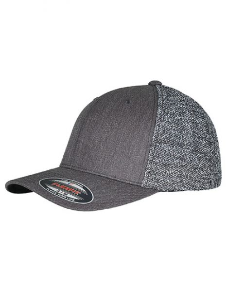 Flexfit Trucker Melange Mesh Cap - FLEXFIT Black - Grey Melange
