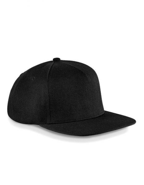 Original Flat Peak Snapback Cap - Caps - 5-Panel-Caps - Beechfield Black - Black