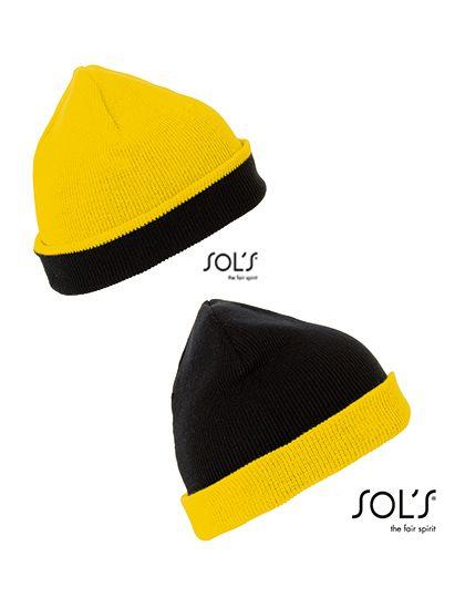 Bonus Hat - Winteraccessoires & Mützen - Mützen - SOL´S Black - Gold