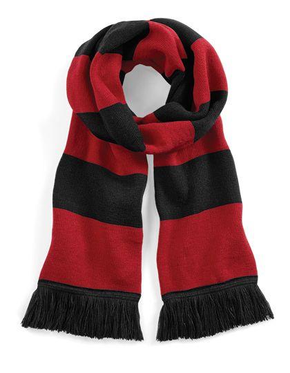 Stadium Scarf - Winteraccessoires & Mützen - Schals - Beechfield Black - Classic Red