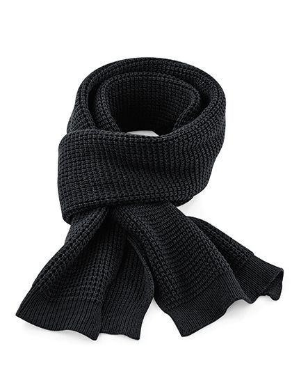 Classic Waffle Knit Scarf - Winteraccessoires & Mützen - Schals - Beechfield Black