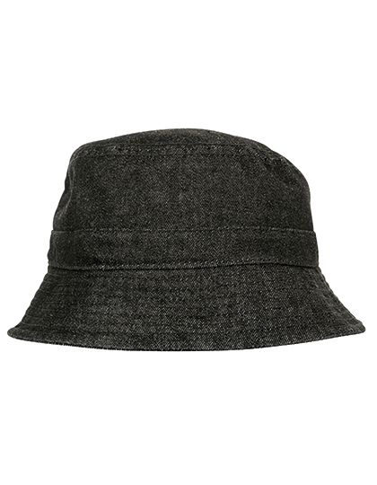 Denim Bucket Hat - FLEXFIT Black - Grey