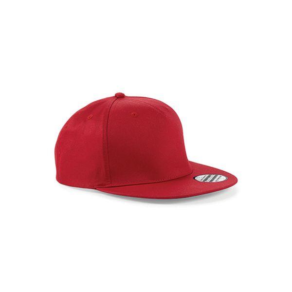 Unisex 5 Panel Cap Rot Snapback Rapper Cap Mütze