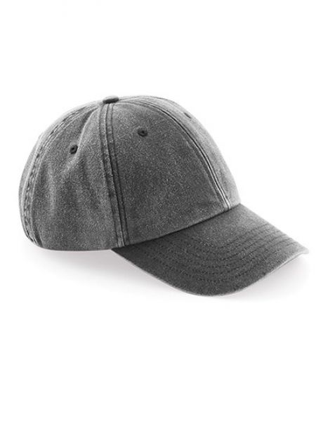 Low Profile Vintage Cap - Caps - 6-Panel-Caps - Beechfield Vintage Black