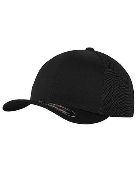 Flexfit Tactel Mesh Cap - Caps - 6-Panel-Caps - FLEXFIT Black